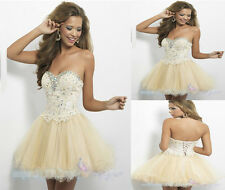 Strapless Homecoming Dresses Short Dress Beaded Organza Prom Ball Evening Dress
