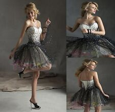 New Size Beaded Short Mini Prom Dress Evening Party Dresses Homecoming Gown