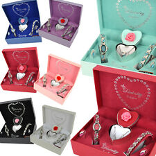 Sexy Ladies Watch Gift Sets Valentine Beautiful Gift Necklace Bracelet Earring