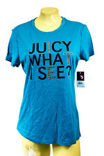 Juicy Couture t shirt logo tee Juicy blue what i s more Juicy please round neck