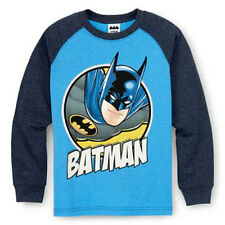 DC Comics Batman Hero Kids Boys Youth Long Sleeve Character Shirt Tee Top NEW