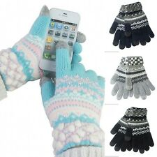 Women Winter Warm Colorful Touch Screen Gloves Telefingers Gloves M7019 GBW