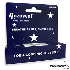 NOZOVENT NASAL DILATOR Reduces Dry Mouth and Snoring Both Sizes - FREE UK P&P!