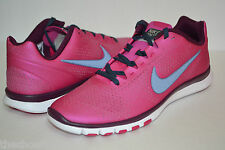 NEW WOMENS NIKE FREE RUN ADVANTAGE TRAINING WALKING SHOES FIREBERRY PINK WHITE
