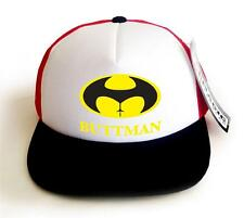 "COLOR FOAM MESH TRUCKER CAP PRINTED ""BUTTMAN"" FUNNY HIP BASEBALL HAT ONE SIZE"