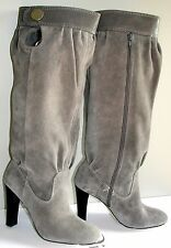 MICHAEL KORS HARNESS SUEDE GREY SEXY LOGO SLOUCH LOGO BOOTS EU 36.5 38