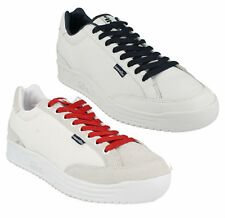 MENS ELLESSE LEATHER LACE UP CASUAL TRAINERS SHOES LEVANTO