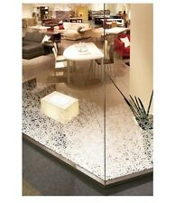 Patterned Decorative White Frosted Window Film - Privacy Frosted Glass Film FLOR