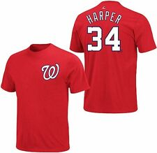 Bryce Harper #34 Washington Nationals Majestic Player Tee Shirt Big & Tall Sizes