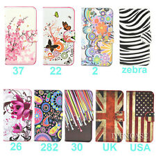 Wallet Flower Leather Flip Case For Samsung Galaxy Ace 3 S7270 S7272 +3 Gift