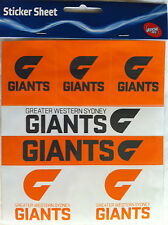 AFL Footy Greater Western Sydney Giants Sticker Tattoo Magnet - Various