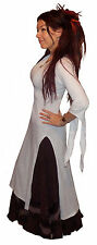 LONG WHITE MEDIEVAL PRINCESS DRESS TOP 10 12 S M hand fasting wicca wedding UV