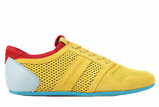 DOLCE&GABBANA MEN'S SHOES SUEDE TRAINERS SNEAKERS NEW SPORT RETE YELLOW  8E1