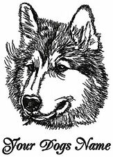 Personalized SIBERIAN HUSKY Dog Breed Embroidered T-shirt **Youth M- Adult XL