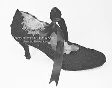 WOMENS NEW BLACK GOTHIC GOTH VINTAGE LACE MID HIGH HEEL SHOES WEDDING VICTORIAN