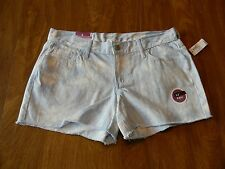 "Old Navy Womens 4, 6, 14 or 16 Blue Tie Dye Diva Cut Off 3.5"" Inseam Shorts NWT"