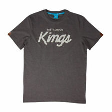 King East London Kings Script Gray Crew Neck Urban Shirt
