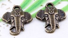 Wholesale 16/38Pcs Bronze Plated(Lead-Free)Elephants Charms Pendants 23.5x17mm