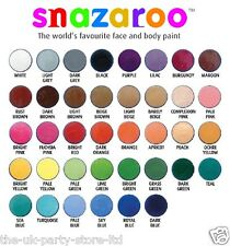 18ml Classic SNAZAROO FACE PAINT Fancy Dress Party Costume Make up Theatre
