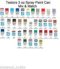 Testors Enamel 3 oz Spray Paint Can Mix/Match Variety