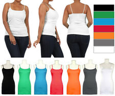 NEW Plus Size XL 2X 3X Spaghetti Strap Colors CAMISOLE Undershirt Layer Tank