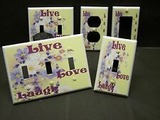 LIVE LOVE LAUGH DAISIES & FLOWERS INSPIRATIONAL LIGHT SWITCH OR OUTLET COVER 274