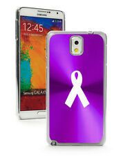 For Samsung Galaxy Note 2 3 Purple Hard Case Cover Awareness Ribbon