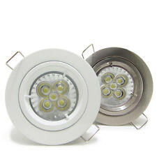 50X 5W LED GU10 Downlight Kit Recessed Ceiling down spot Light lamp dimmable