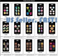 Microfiber Cell Phone cleaner sticker x6 (1 sheet)resusable for touch screen USA
