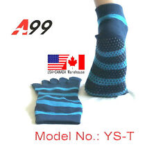5-Toe Exercise Yoga/Pilates Toe Socks With Full Grip Men and Women