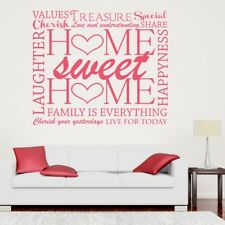 HOME SWEET HOME wall quote living room kitchen stickers decal vinyl transfer
