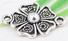 Wholesale 12/24/56/310Pcs Tibetan Silver(Lead-Free)Flower Connectors  19x13mm