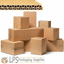 """18"""" Cube Multi Depth Double Wall Packing Box Cardboard Removal Mail Boxes"""