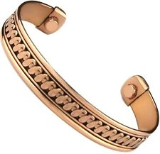 "Brand New Pure Copper Bracelet with Magnets ""Therapy"" Cuff Wrist Bangle to heal"