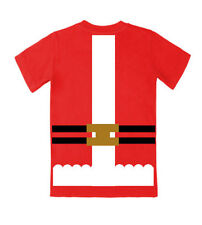 NEW RED SANTA FATHER CHRISTMAS SUIT FANCY DRESS COSTUME T SHIRT TEE TOP