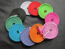 3ft/6ft/10ft Flat Braid Fabric USB Sync Charger Cable For iPhone 5 5S 5C ISO7