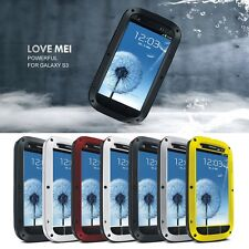 Metal Aluminum Water/Duty Proof Case Cover For Samsung Galaxy S3 i9300 LOVE MEI