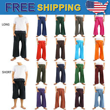 New 100% Cotton Thai Fisherman Pants 18 Colors Yoga Freesize adjustable Long 3/4