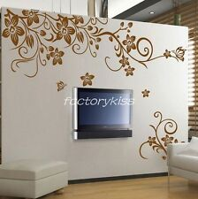 Removable Mural Decal Sticker Floral Flower Blowing Wall Art Decor Vinyl IUK