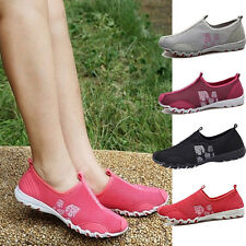 New Women Sport fresh ventilate Casual Running Loafers Slip on Tennis Shoes SS18