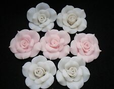 40mm Camellias Rose Flower FIMO Polymer Clay Cell phone Craft Decoration #DA185