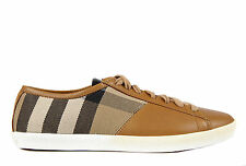 BURBERRY WOMEN'S SHOES LEATHER TRAINERS SNEAKERS NEW VINTAGE HERVEY BEIGE  FA8