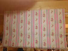 Clarke&Clarke Striped Floral Chintz Fabric Roman Blind made to measure