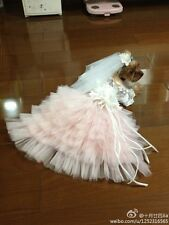 Spring Summer Hand-Made Pink Tailing Dog Pet Coat Dress Skirt Clothing Clothes