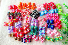 2014 New Pet Hair Bows Mix Design rhinestones Top Dog Bows Pet Grooming Products