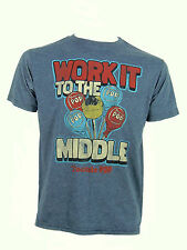 Junk Food T-shirt a maniche corte shirt work it to the middle TG S, M, XL