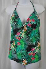 Mudd 5707KM Multi-color Floral Print Sequin Bust Tankini Swimsuit Top MSRP $32