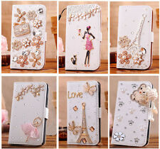 Luxury 3D Bling Crystal Flip Wallet PU Leather Case Cover For Nokia Lumia 920