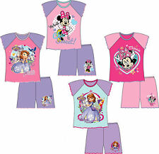 GIRLS KIDS DISNEY MINNIE MOUSE SOFIA PRINCESS SHORTIE PYJAMAS PJS TODDLER 12m-5y