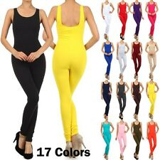 N21 WOMAN'S COTTON YOGA JUMPSUITS ROMPER Racer back 17+ Colors S M L XL JSS